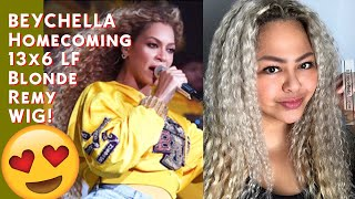 Beychella Homecoming Blonde Remy 13x6 LF Wig!