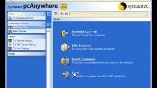 Symantec pcAnywhere installation and setup