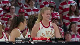 2019.02.21 Wake Forest Demon Deacons at #9 NC State Wolfpack Women's Basketball
