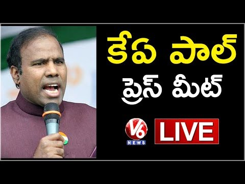 KA Paul Press Meet Live | Hyderabad | V6 News