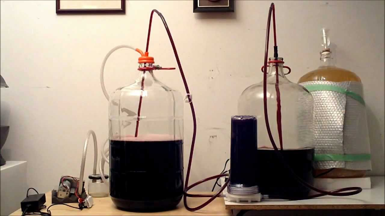 Vacuum Racking Wine With Inline Whole House Filter Youtube