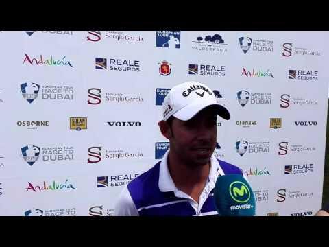 Pablo Larrazábal tras la segunda jornada del Open de España
