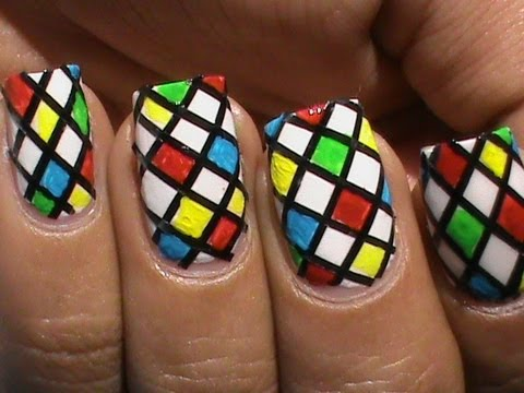 color blocking nail polish designs for beginners to do at