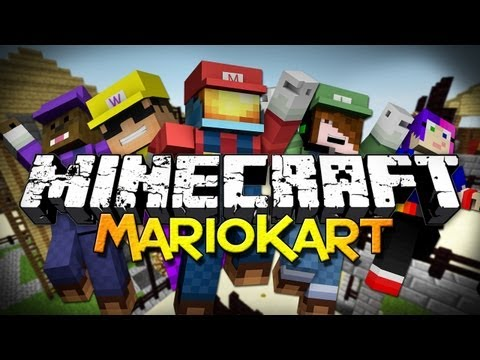Minecraft: MarioKart w/ Friends! - It's a-me MU-RIO! (Mini-Game)