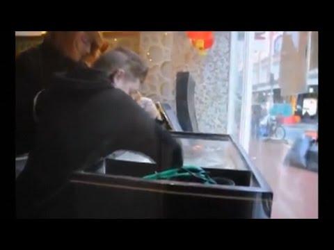 【海外】動物の権利団体、中華料理屋の水槽からロブスターを救出し、海に解放 アイルランド(動画あり)