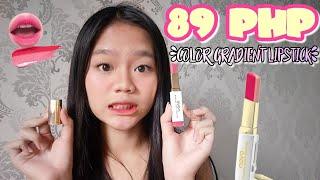89 PHP Gradient Color Lipstick Waterproof!! (Sa wakas nakapag-upload din)