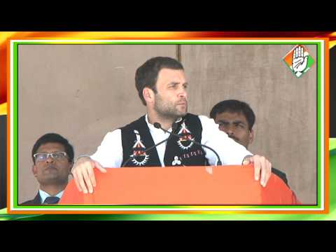 Congress Vice-President Rahul Gandhi speaks on 'Empowerment' at a Public Rally in Tuensang, Nagaland