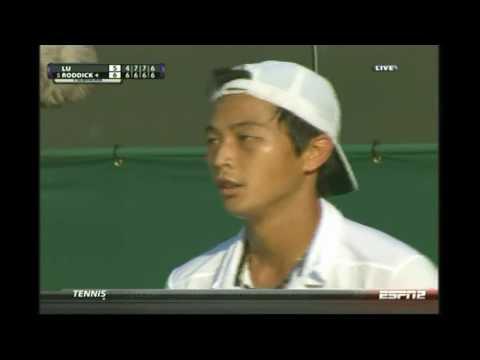 Andy Roddick Survives 4th Set Tiebreak Vs Yen-Hsun Lu But Lu Wins Wimbledon 2010 Round Of 16
