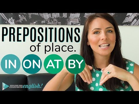 Prepositions of PLACE  👉  IN  ON  AT  BY  👈  Common English Grammar Mistakes