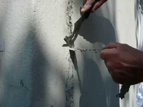 Reparation de fissure de stucco enduit acrylique d co - Kit de reparation baignoire acrylique ...