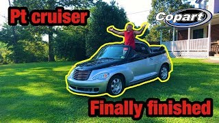 I Rebuilt My First Copart Car At 14 Years Old!! Clean Title Blown Motor PT Cruiser Finished