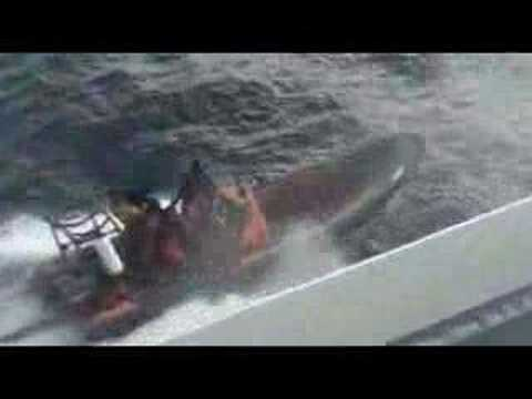 Sea Shepherd attacking Japanese whaling vessel