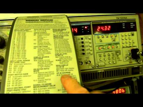 Hewlett Packard HP 8903 Audio Analyzer.MOV