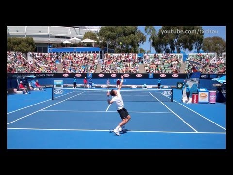 Milos Raonic - Serve in Slow Motion