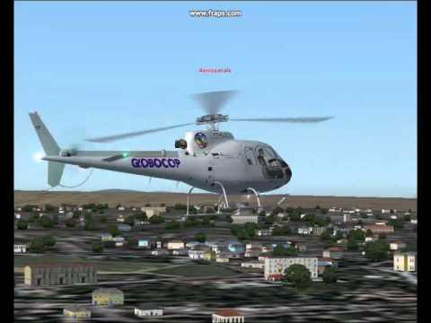 Helicoptero Esquilo da Rede Record Globocop Helicóptero da Rede