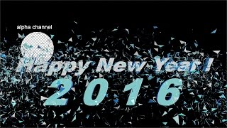 Free footage Happy New Year 2016 text explosion