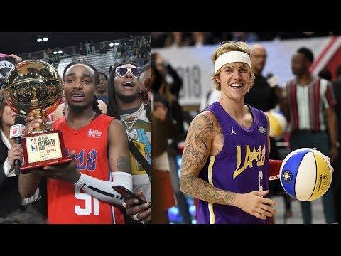 NBA All-Star Celebrity Game 2018! Justin Bieber, Quavo MVP, Rachel 2K