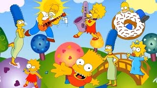 The Simpsons Finger Family Nursery Rhyme cartoon youtube  The Simpsons Finger Family