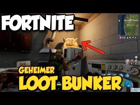 Fortnite: Geheimer Loot Bunker unter