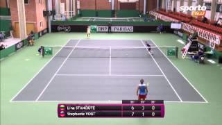 SportoTV.lt: FedCup Lina Stančiūtė - Stephanie Vogt 2014-04-17