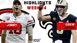 Jimmy Garoppolo vs. Drew Brees Incredible QB Shootout! | NFL 2019 Highlights