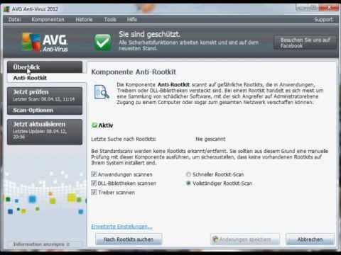 AVG Anti Virus 2012 Preview Tutorial Konfiguration