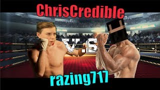 RAZING717 VS CHRISCREDIBLE BOXING MATCH!! #notclickbait (GD Race - CC Challenges)