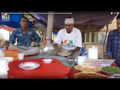 Hyderabad Chicken Haleem Making Step By Step Full Preparation | Ramdhan Special Haleem Making