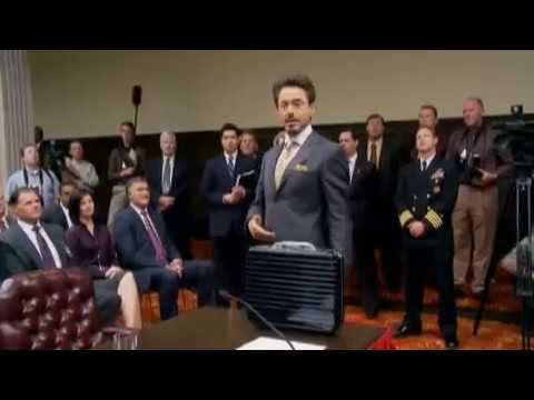 Behind the Scene of Iron Man 2 - RDJ Speech