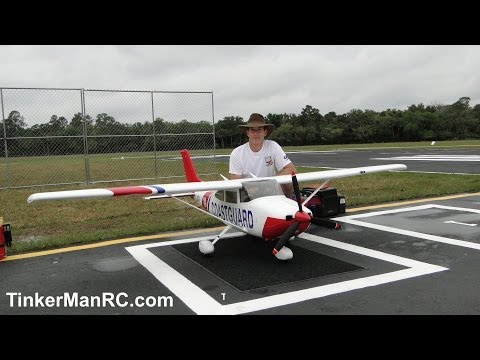 Giant 1/4 Scale TMMY Cessna 182 Maiden Flight