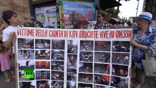 В Риме скорбят по жертвам трагедии в Доме Профсоюзов