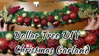 A Dollar Tree DIY... Christmas Garland