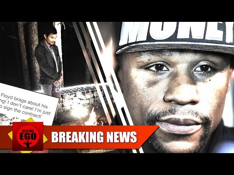 MANNY PACQUIAO WAITING FOR FLOYD MAYWEATHER TO SIGN THE CONTRACT? 01.04.2015