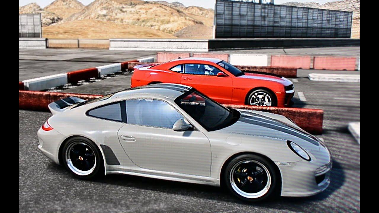 Porsche 911 Vs Camaro Zl1 Drag Race Youtube