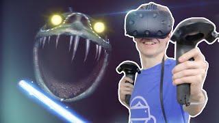 FIGHTING A HUGE SCARY MONSTER IN VR!   Vertigo (HTC Vive Gameplay)