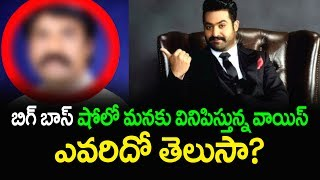 Revealed ! The Voice Behind Bigg Boss Show | Jr NTR Bigg Boss Telugu Reality Show | Top Telugu Media