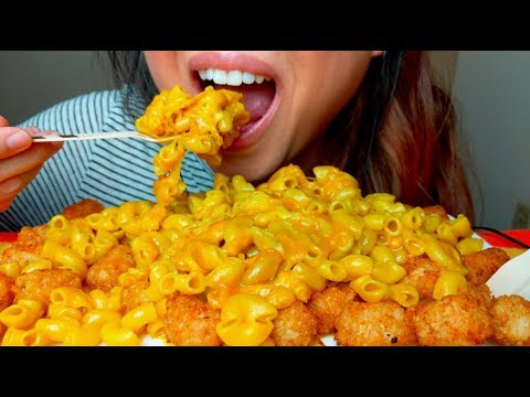ASMR Macaroni and Cheese TATER TOTS 먹방 Eating Sounds *No Talking* suellASMR thumbnail