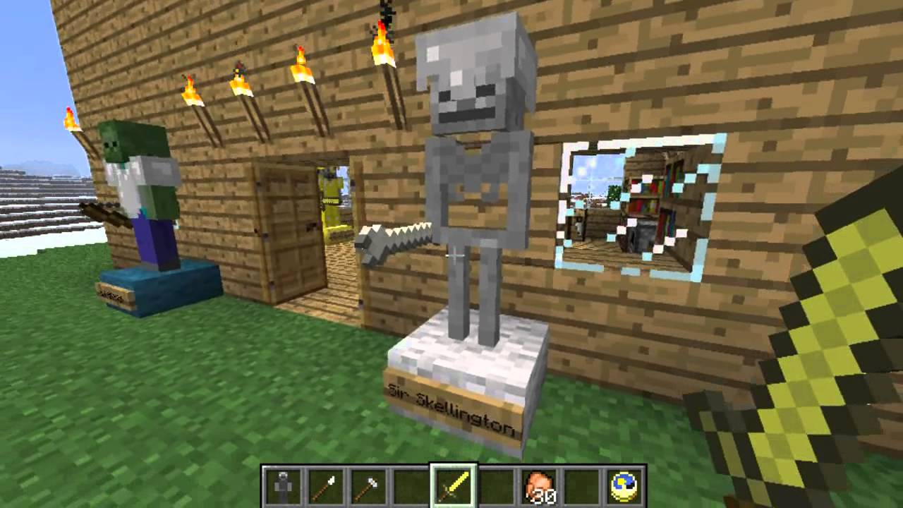 Minecraft Scary Statues