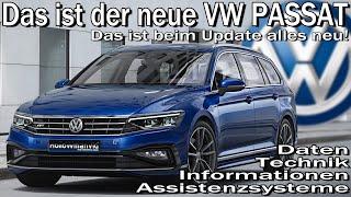 Das neue VW Passat B8 Facelift 2019   Informationen Daten Technik Assistenzsysteme