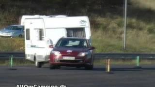 Tilting caravan