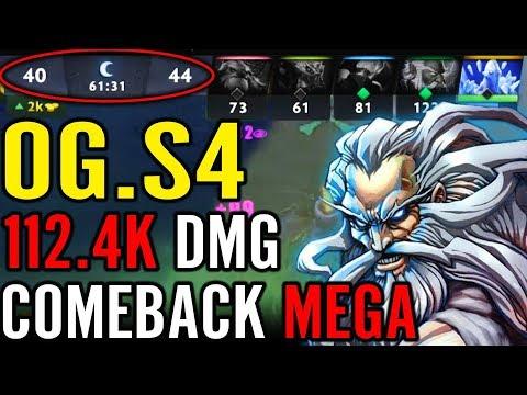 OG.s4 112.k Damage Comeback MEGACREEP Pro Dota 2 Gameplay