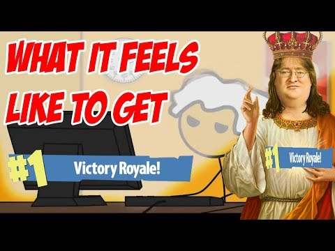 What it Feels like to get VICTORY ROYALE in Fortnite Battle Royale