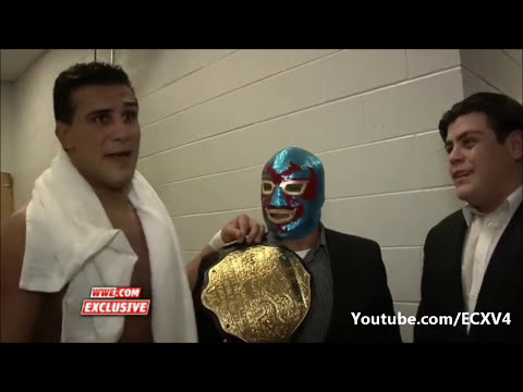WWE.com Exclusive: Alberto Del Rio celebrates his win over Big Show with his father Dos Caras