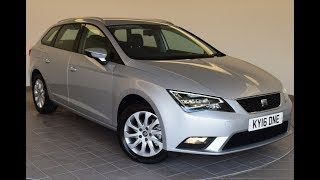 KY16DNE SEAT Leon 1.6 TDI 110 SE 5dr (Technology Pack) Estate]