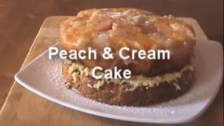 Peach & Cream Turnover Cake - MYVIRGINKITCHEN