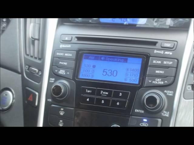 Hyundai Bluetooth Sync Demonstration - Instructions - YouTube