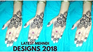 Latest Mehndi Designs Tutorial 2018
