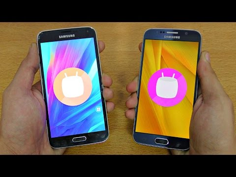 Samsung Galaxy S5 Android 6.0.1 vs Galaxy S6 Android 6.0.1 Speed Test! (4K)