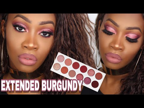 Kylie Cosmetics BURGUNDY EXTENDED Palette Review + Tutorial + Swatches   Maya Galore