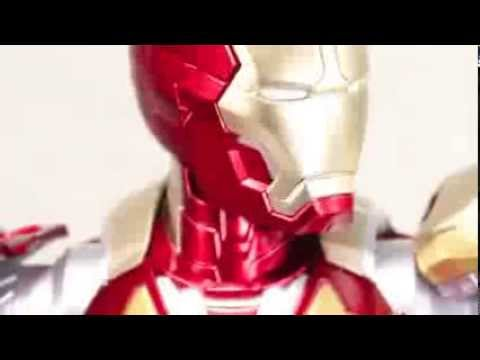 Iron Man 3 Dragon Mark XLII Iron Man 1/9 Scale Action Hero Vignette Pre-Assembled Model Kit Review